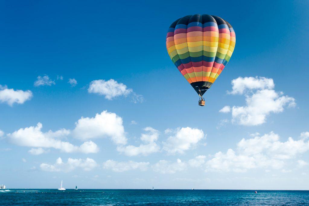 paseo en globo por la costa brava